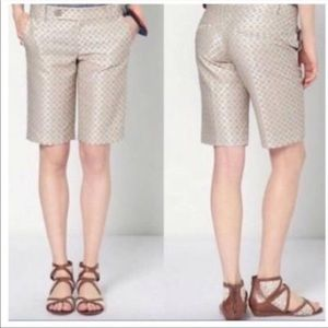 Anthro Cartonnier Bermuda Brocade Shorts 6
